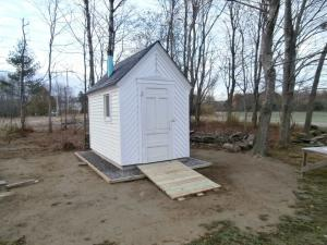 The new outhouse at the Jellerson School